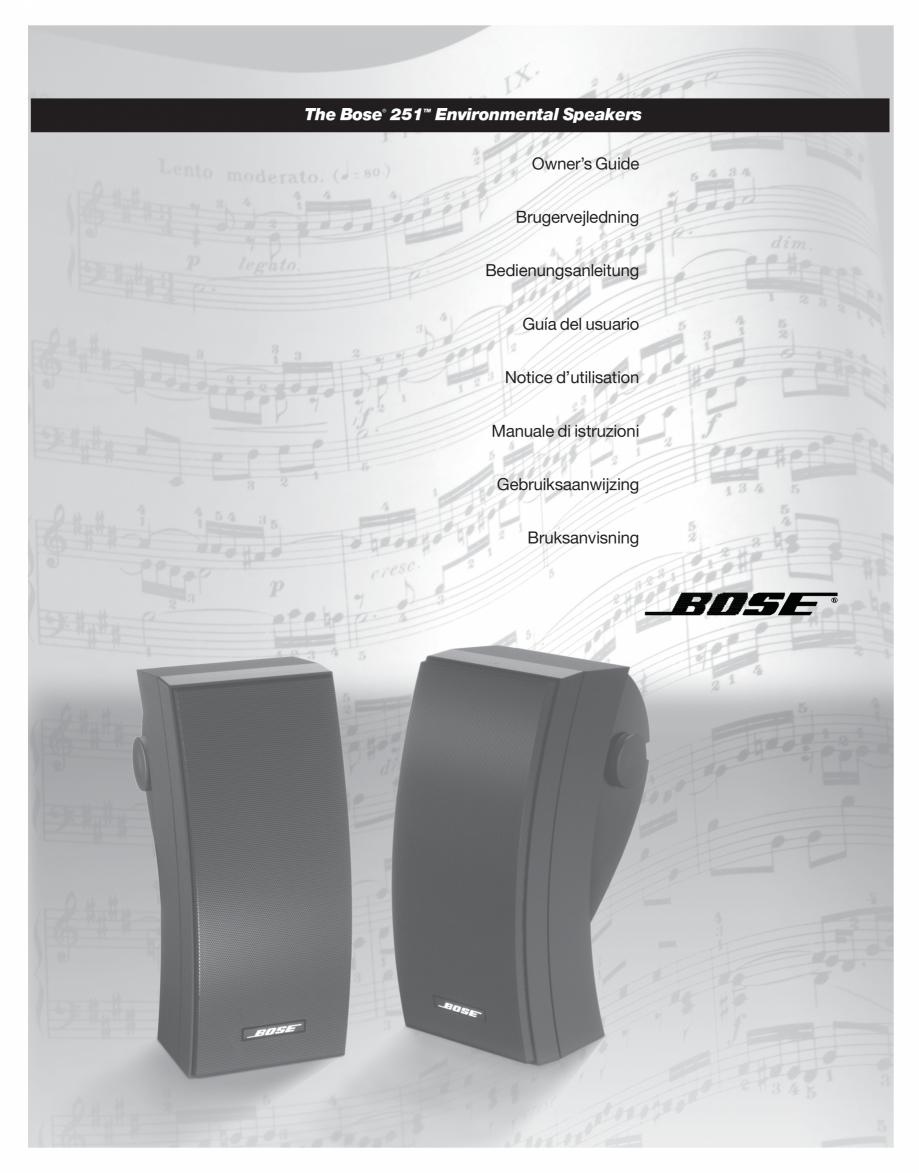 Pagina 1 - Manual de utilizare - boxe cu fir pentru exterior BOSE 251 Instructiuni montaj, utilizare...