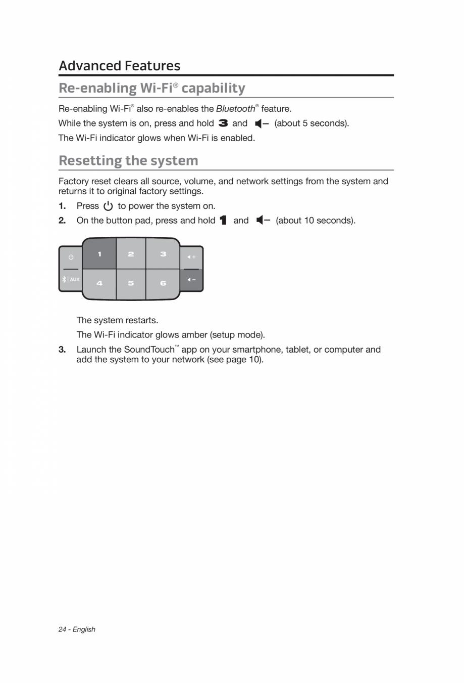 Manual de utilizare pentru boxa WiFi BOSE SoundTouch 10 Instructiuni