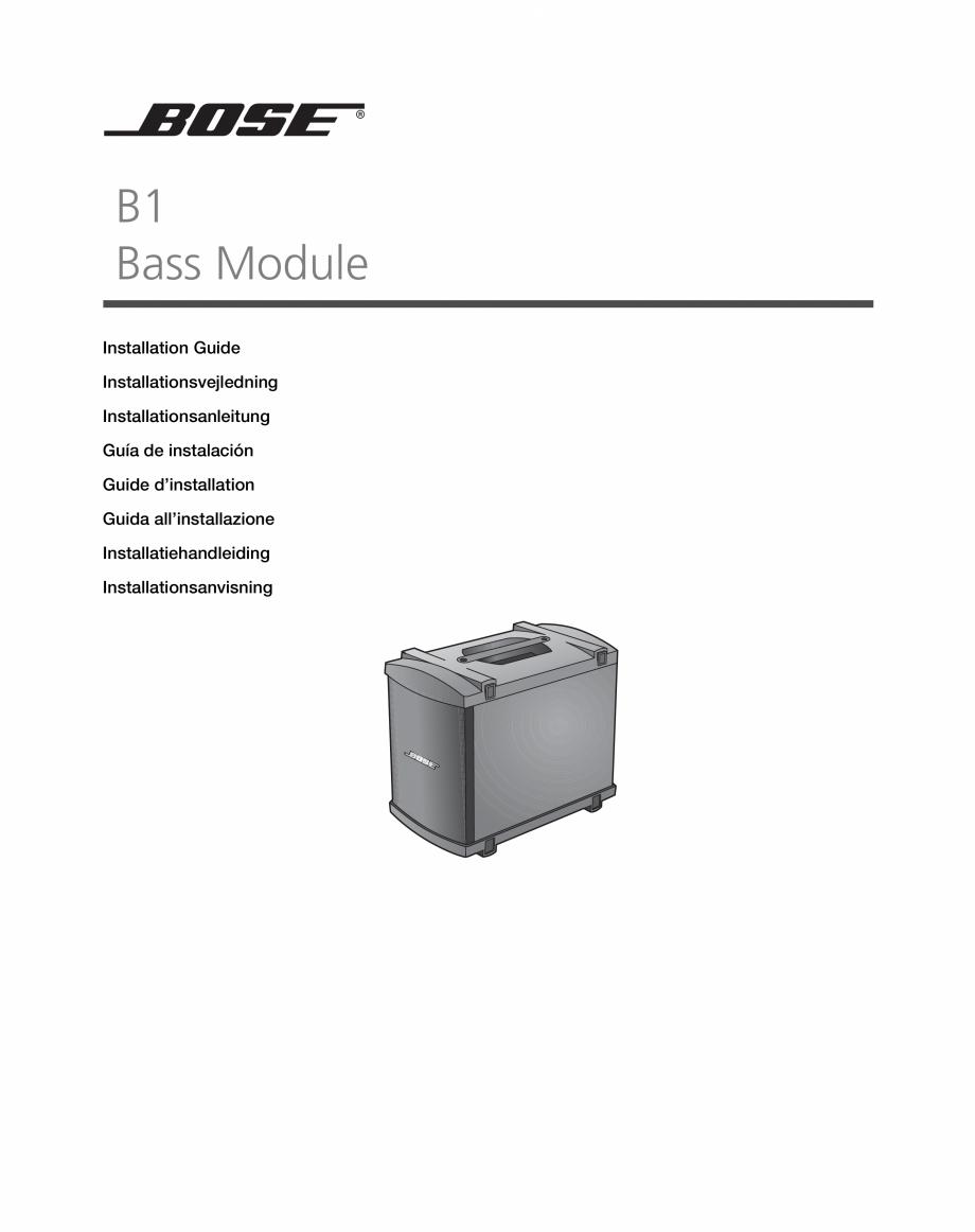 Pagina 1 - Sistem audio pentru muzica live BOSE Instructiuni montaj, utilizare Engleza, Franceza,...
