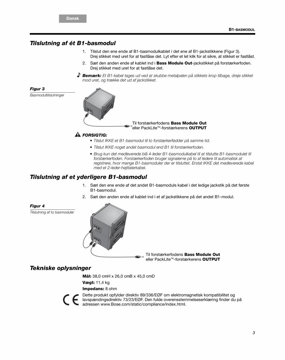 Pagina 5 - Sistem audio pentru muzica live BOSE Instructiuni montaj, utilizare Engleza, Franceza,...