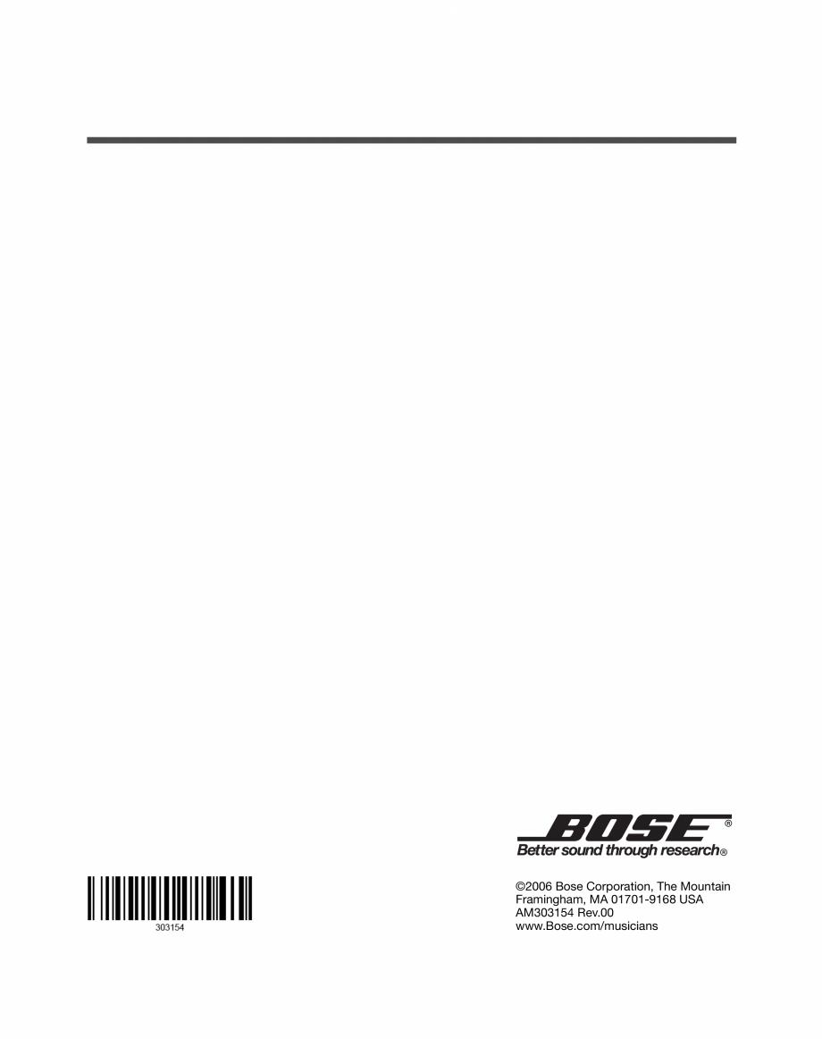 Pagina 20 - Sistem audio pentru muzica live BOSE Instructiuni montaj, utilizare Engleza, Franceza,...
