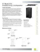 Manual de utiliare pentru boxa array flexibila BOSE