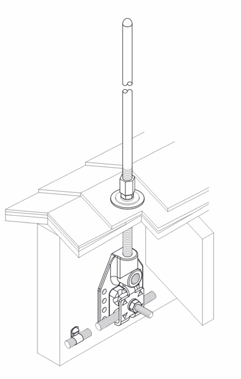 Pagina 1 - CAD-PDF Baze VFC® ascunse pentru fixare captator paratrasnet VFC Detaliu de produs...