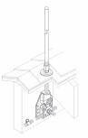 Baze VFC® ascunse pentru fixare captator paratrasnet VFC - Baze ascunse