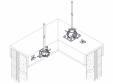 Baze VFC® pentru montajul captatoarelor paratrasnet seria TKU VFC - Baze montaj captatoare