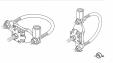 Baza de fixare VFC®, cupru stanat, pentru tevi, cos de fum VFC - Baza fixare cupru