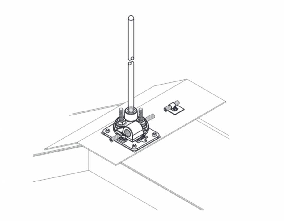 Pagina 1 - CAD-PDF Baze VFC® pentru montajul captatoarelor paratrasnet seria TKU VFC Detaliu de ...