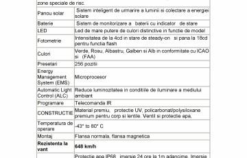Baliza solara pentru semnalizare zone periculoase Carmanah