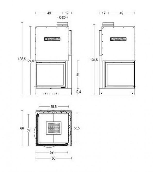 Schiță dimensiuni Focar MA 284 SL