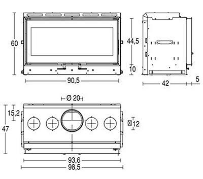 Schiță dimensiuni Focar MC 90 44
