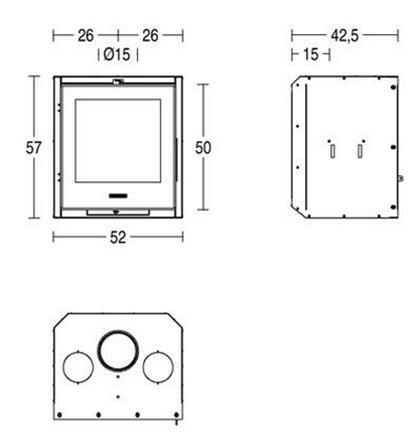 Schiță dimensiuni Focar IL 52/57