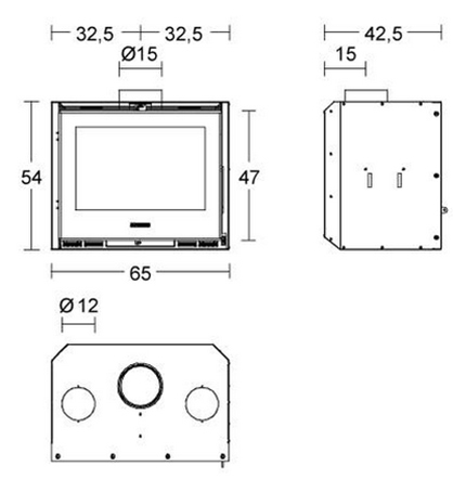 Schiță dimensiuni Focar IL 65/54