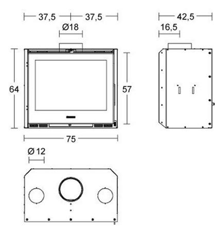 Schiță dimensiuni Focar IL 75/64