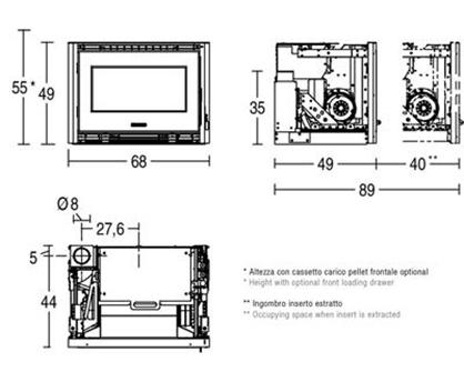 Schiță dimensiuni Focar IP 68/49