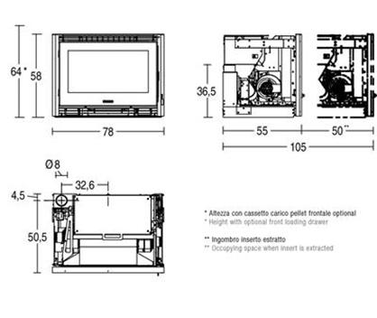 Schiță dimensiuni Focar IP 78/58