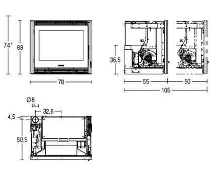 Schiță dimensiuni Focar IP 78/68