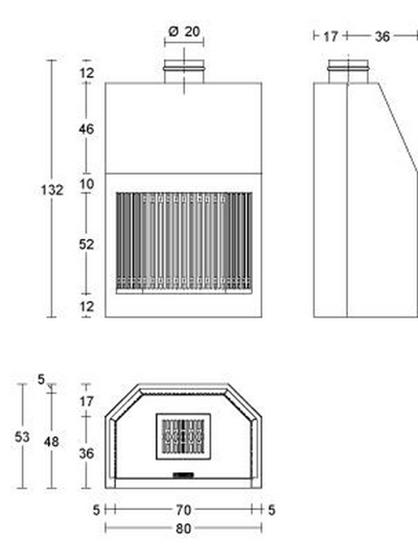 Schiță dimensiuni Focar MA 260