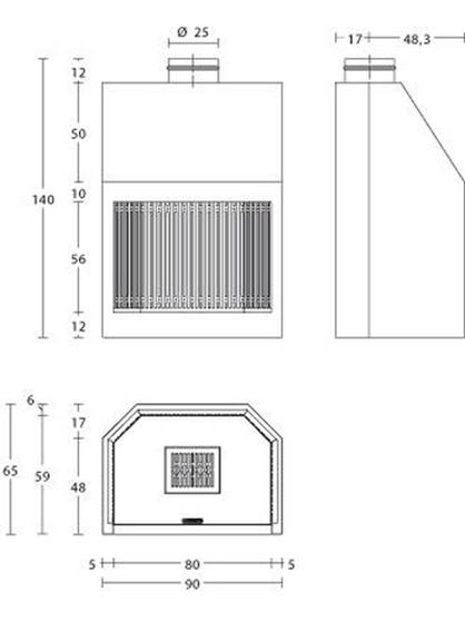 Schiță dimensiuni Focar MA 261