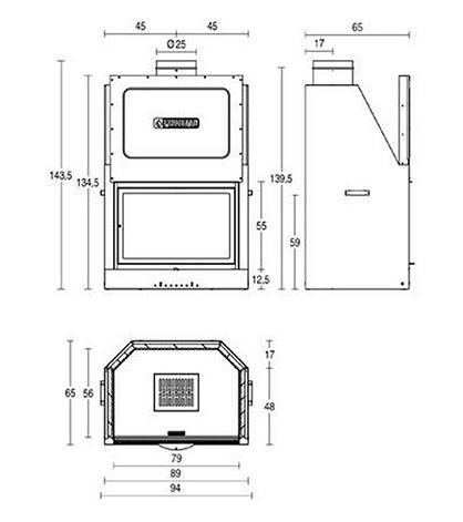 Schiță dimensiuni Focar MA 261 SL