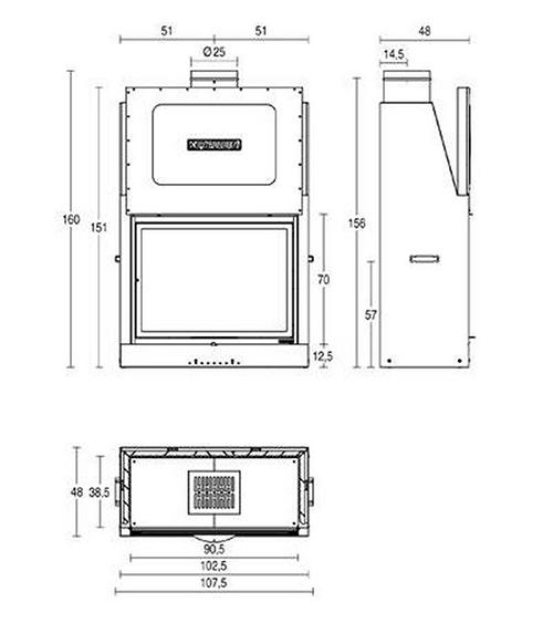 Schiță dimensiuni Focar MA 262 SL
