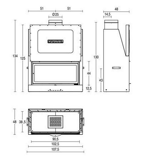Schiță dimensiuni Focar MA 263 SL