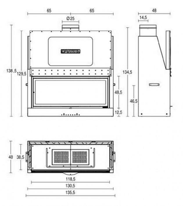 Schiță dimensiuni Focar MA 264 SL