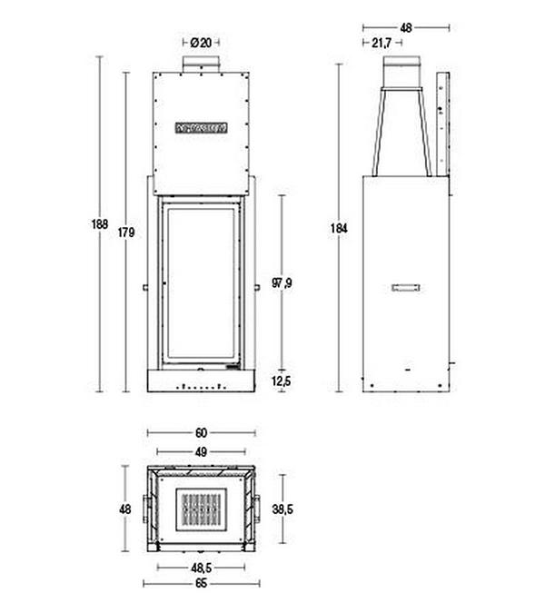 Schiță dimensiuni Focar MA 266 SL