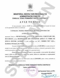 Aviz Tehnic - Rezervoare 1st Criber