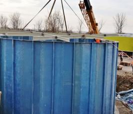 Rezervor modular cilindric statie epurare industriala CRIBER - Poza 3