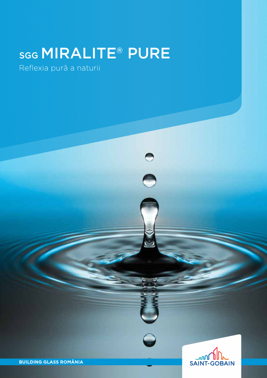Pagina 1 - Oglindă dedicata sănătăţii şi mediului SAINT GOBAIN GLASS SGG MIRALITE PURE Catalog...