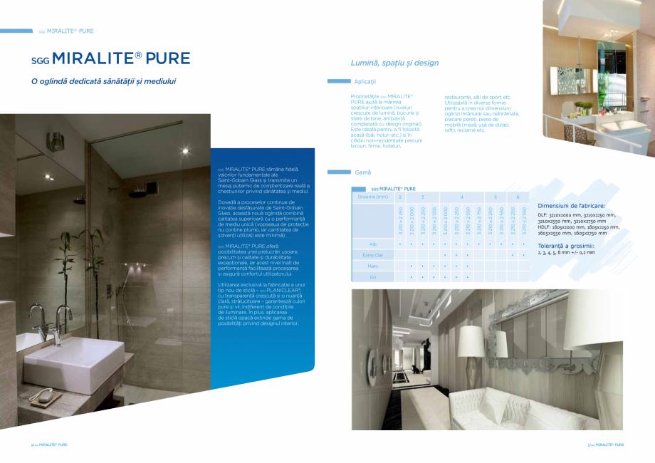 Pagina 2 - Oglindă dedicata sănătăţii şi mediului SAINT GOBAIN GLASS SGG MIRALITE PURE Catalog...