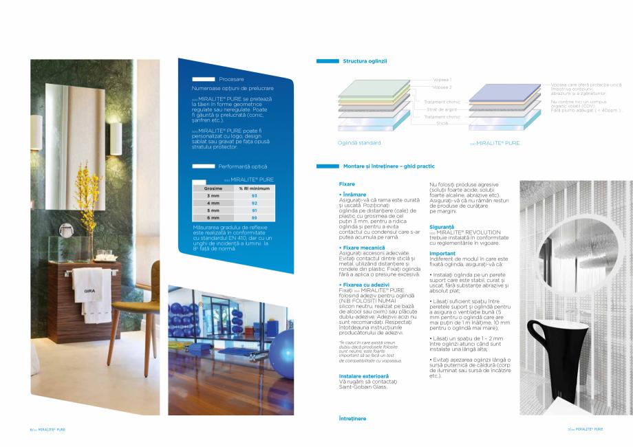 Pagina 4 - Oglindă dedicata sănătăţii şi mediului SAINT GOBAIN GLASS SGG MIRALITE PURE Catalog...