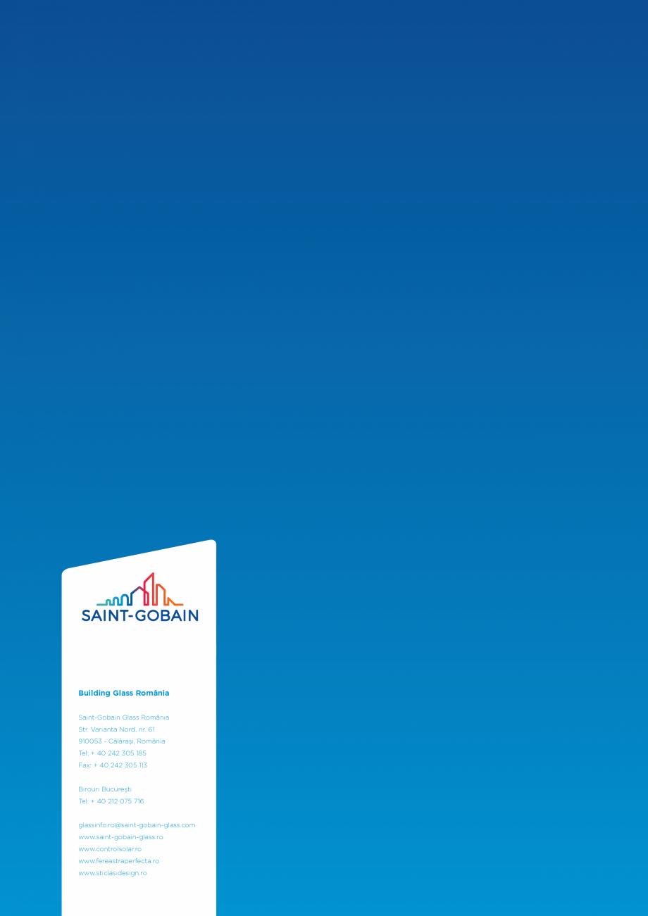Pagina 5 - Oglindă dedicata sănătăţii şi mediului SAINT GOBAIN GLASS SGG MIRALITE PURE Catalog...