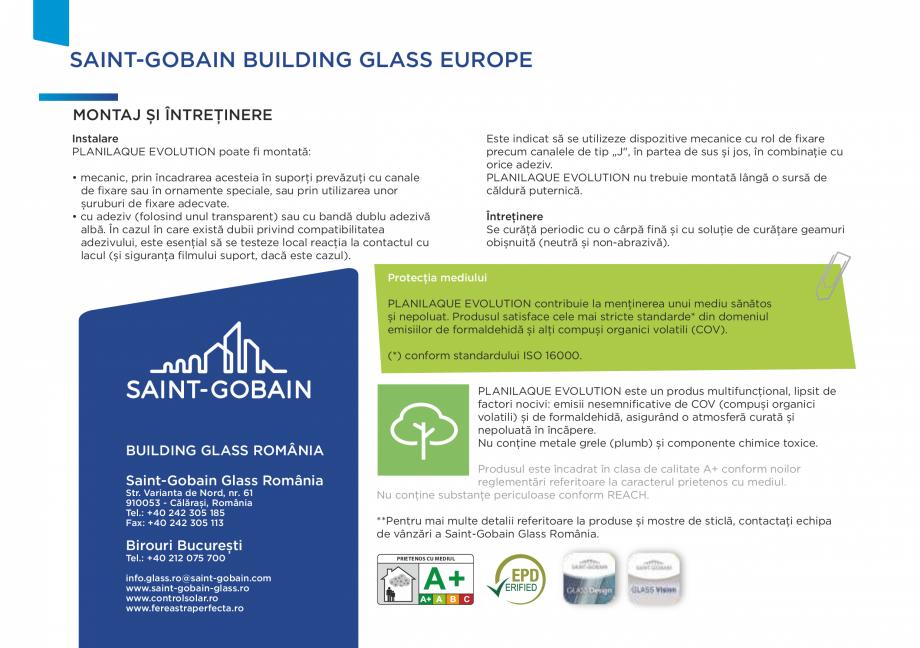 Pagina 4 - Sticlă lăcuită de înaltă durabilitate SAINT GOBAIN GLASS SGG PLANILAQUE...