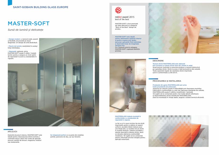 Pagina 2 - Sticlă imprimată arhitecturală SAINT GOBAIN GLASS SGG MASTERGLASS Catalog, brosura...