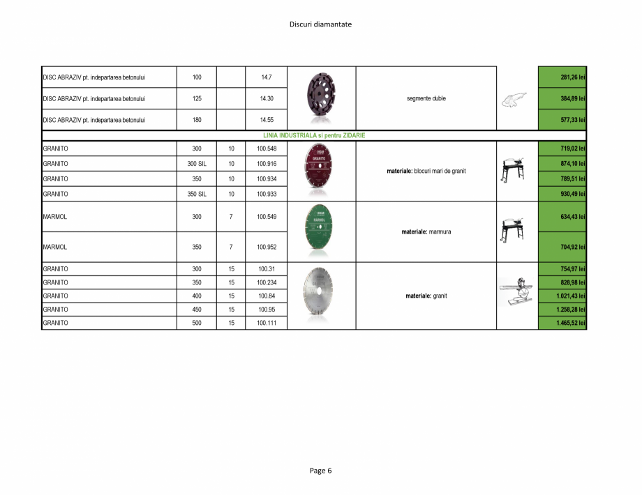 Pagina 6 - Discuri diamantate Stayer de la Unior Tepid  Catalog, brosura Romana   14.301  TURBO...