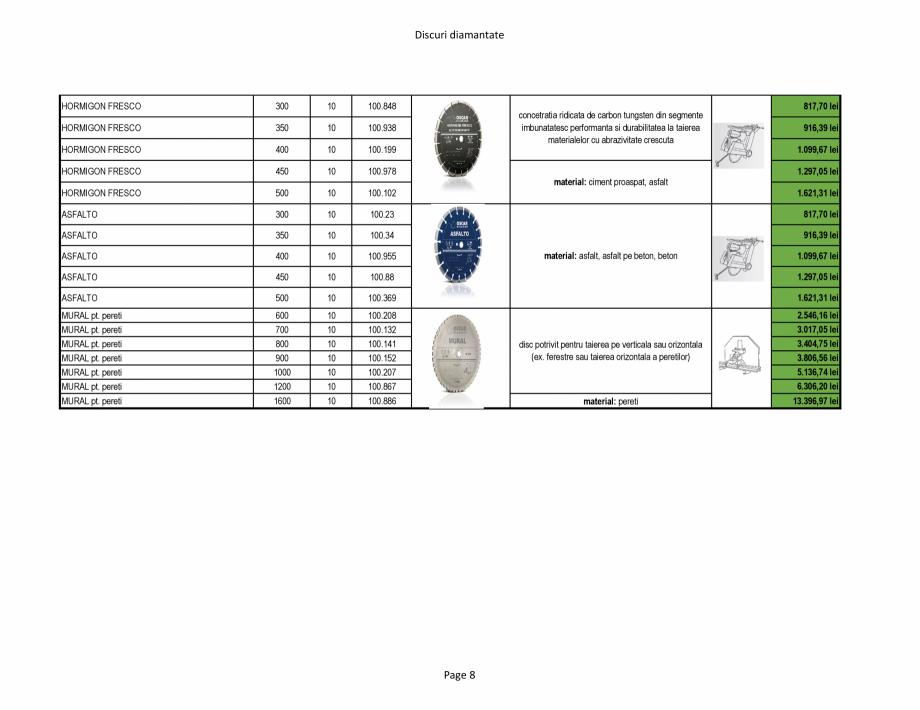 Pagina 8 - Discuri diamantate Stayer de la Unior Tepid  Catalog, brosura Romana 1500.1  TURBO...