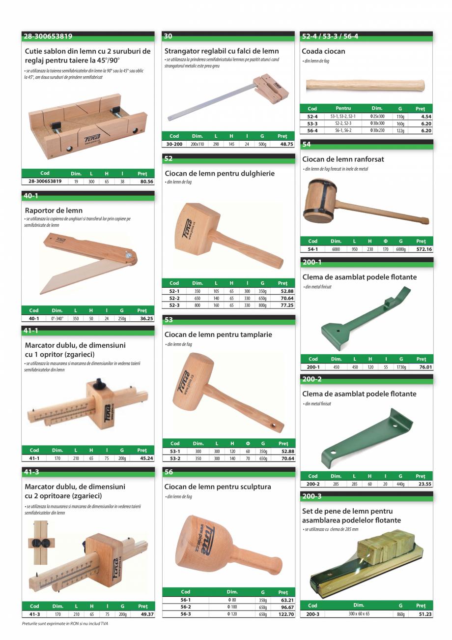 Pagina 3 - Program PINIE de la Unior Tepid - Scule pentru lemn  Catalog, brosura Romana  taiere 45°...