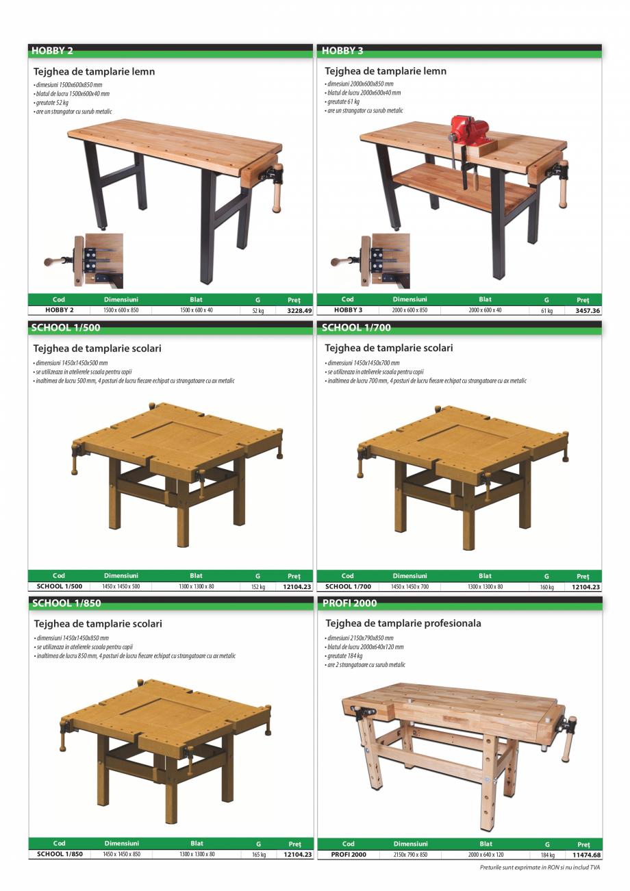 Pagina 4 - Program PINIE de la Unior Tepid - Scule pentru lemn  Catalog, brosura Romana  lemn de...