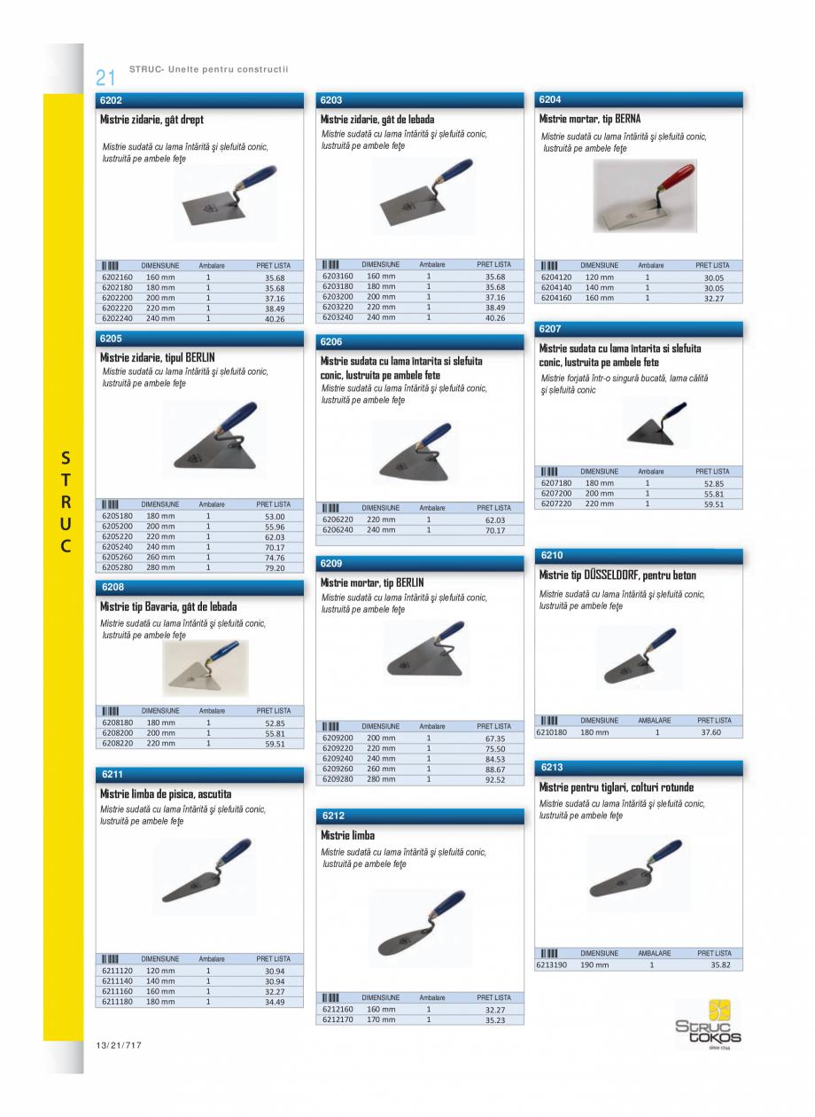 Pagina 3 - Program STRUC TOKOS de la Unior Tepid - Mistrii, dristi, spacluri  Catalog, brosura...
