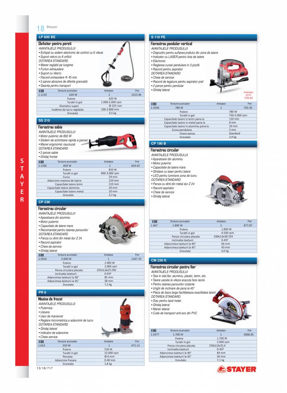 Pagina 5 - Program STAYER de la Unior Tepid- Scule electrice  Catalog, brosura Romana filetante...