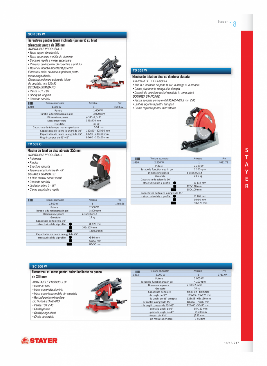 Pagina 8 - Program STAYER de la Unior Tepid- Scule electrice  Catalog, brosura Romana n rotopercutor...