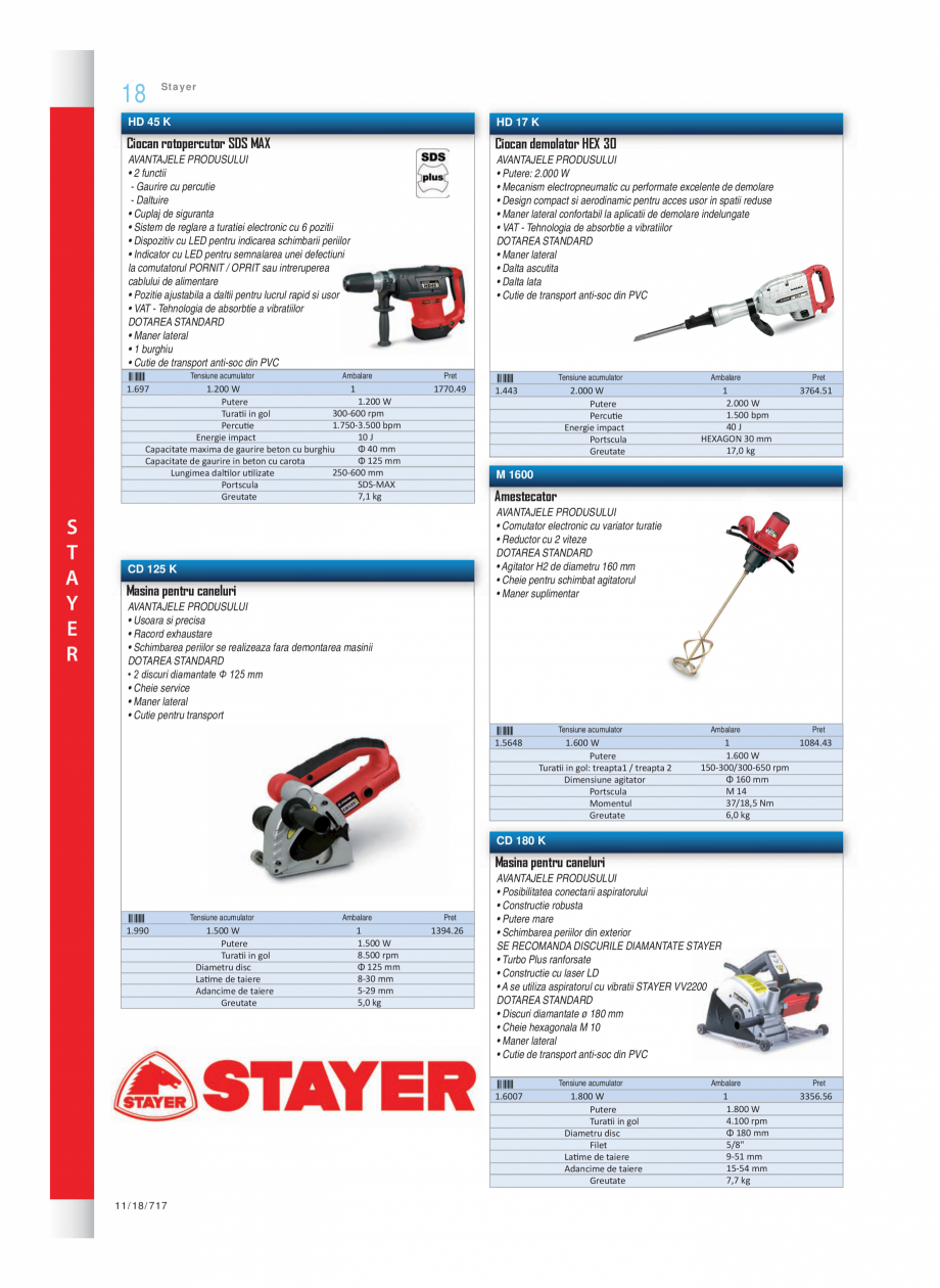 Pagina 3 - Program STAYER de la Unior Tepid - Scule electrice STAYER PR6, PR12E Catalog, brosura...
