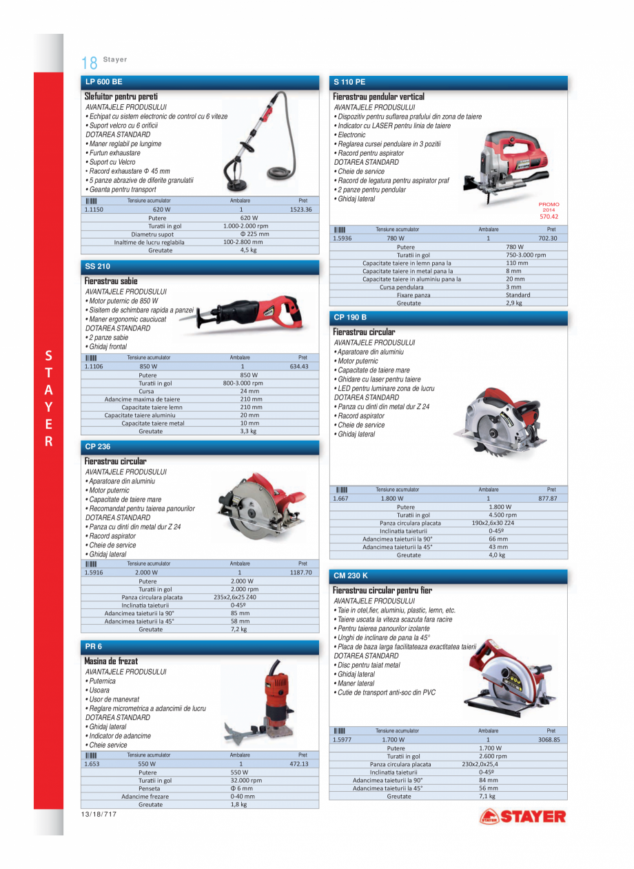 Pagina 5 - Program STAYER de la Unior Tepid - Scule electrice STAYER PR6, PR12E Catalog, brosura...