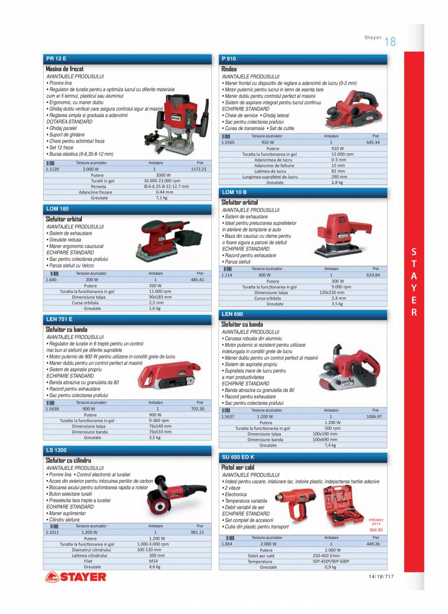 Pagina 6 - Program STAYER de la Unior Tepid - Scule electrice STAYER PR6, PR12E Catalog, brosura...