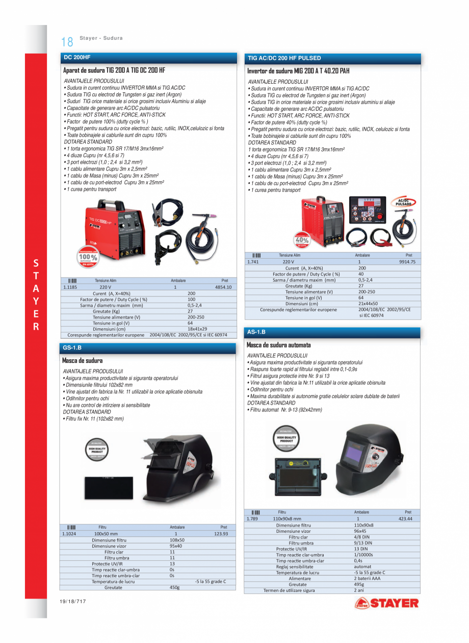 Pagina 11 - Program STAYER de la Unior Tepid - Scule electrice STAYER PR6, PR12E Catalog, brosura...