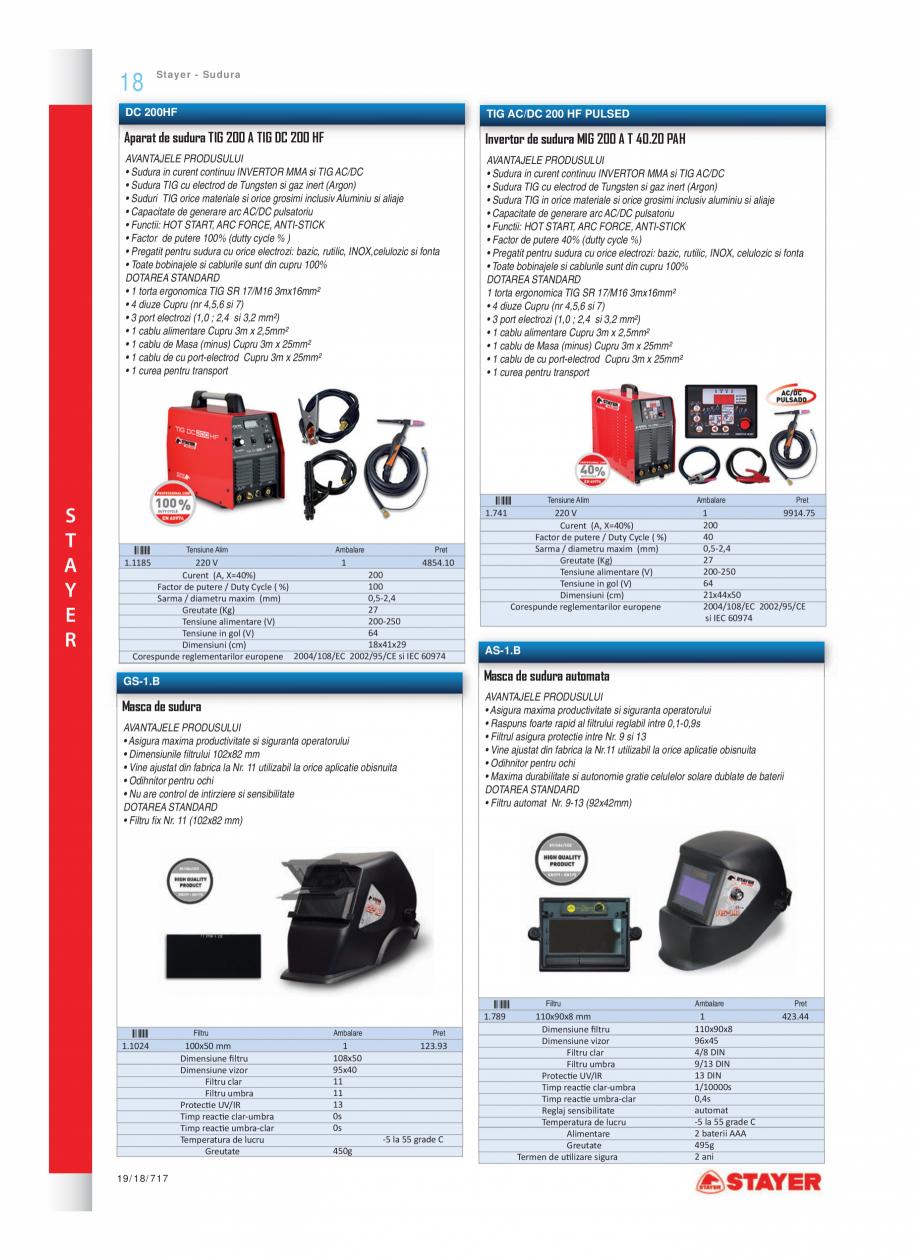 Pagina 11 - Program STAYER de la Unior Tepid - Scule electrice STAYER SC 265 W, SCR 315 W, SN 1470, ...