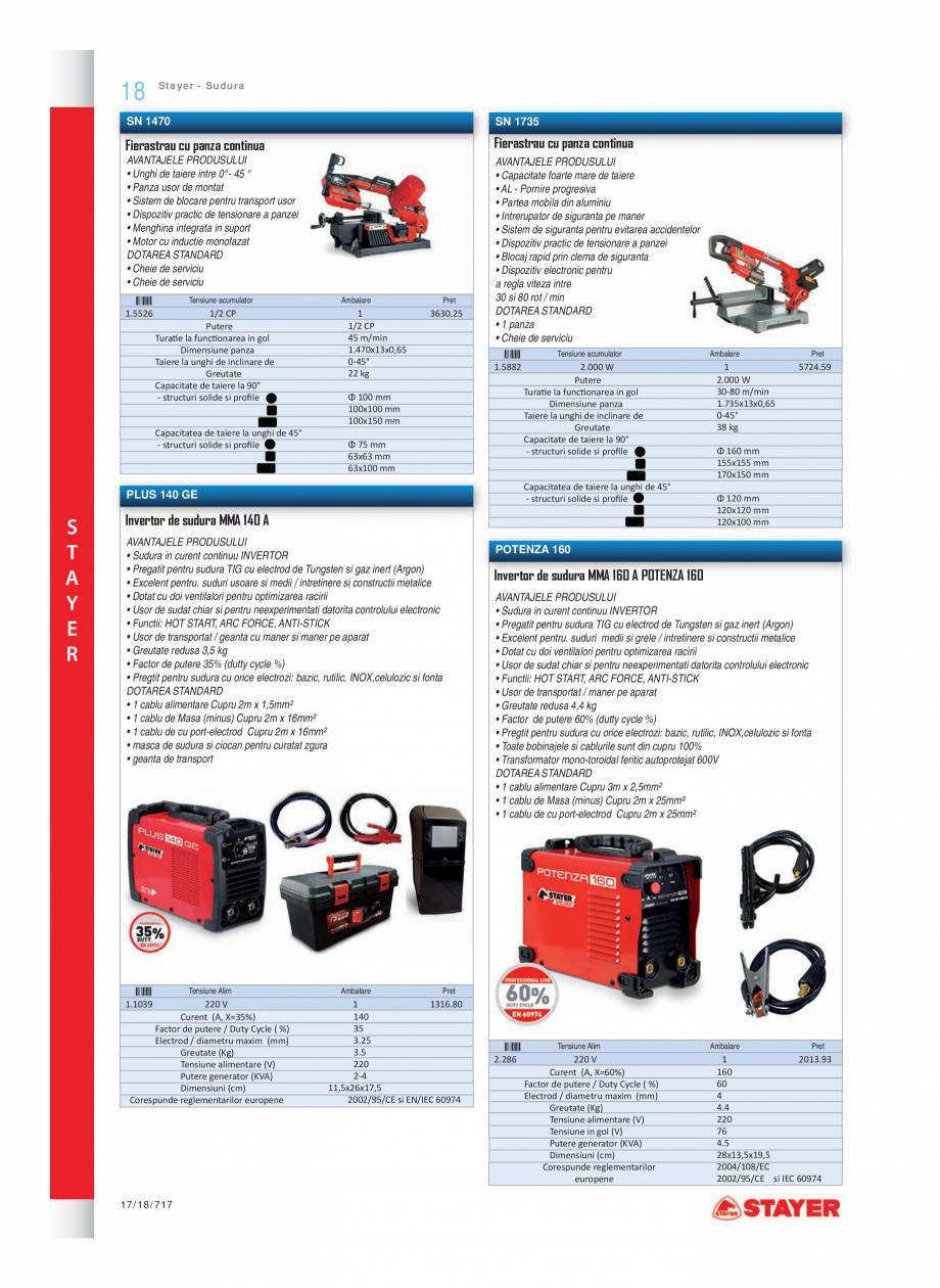 Pagina 10 - Program STAYER de la Unior Tepid - Scule electrice STAYER LU 270 E - LU 272, LEV 120, LH...