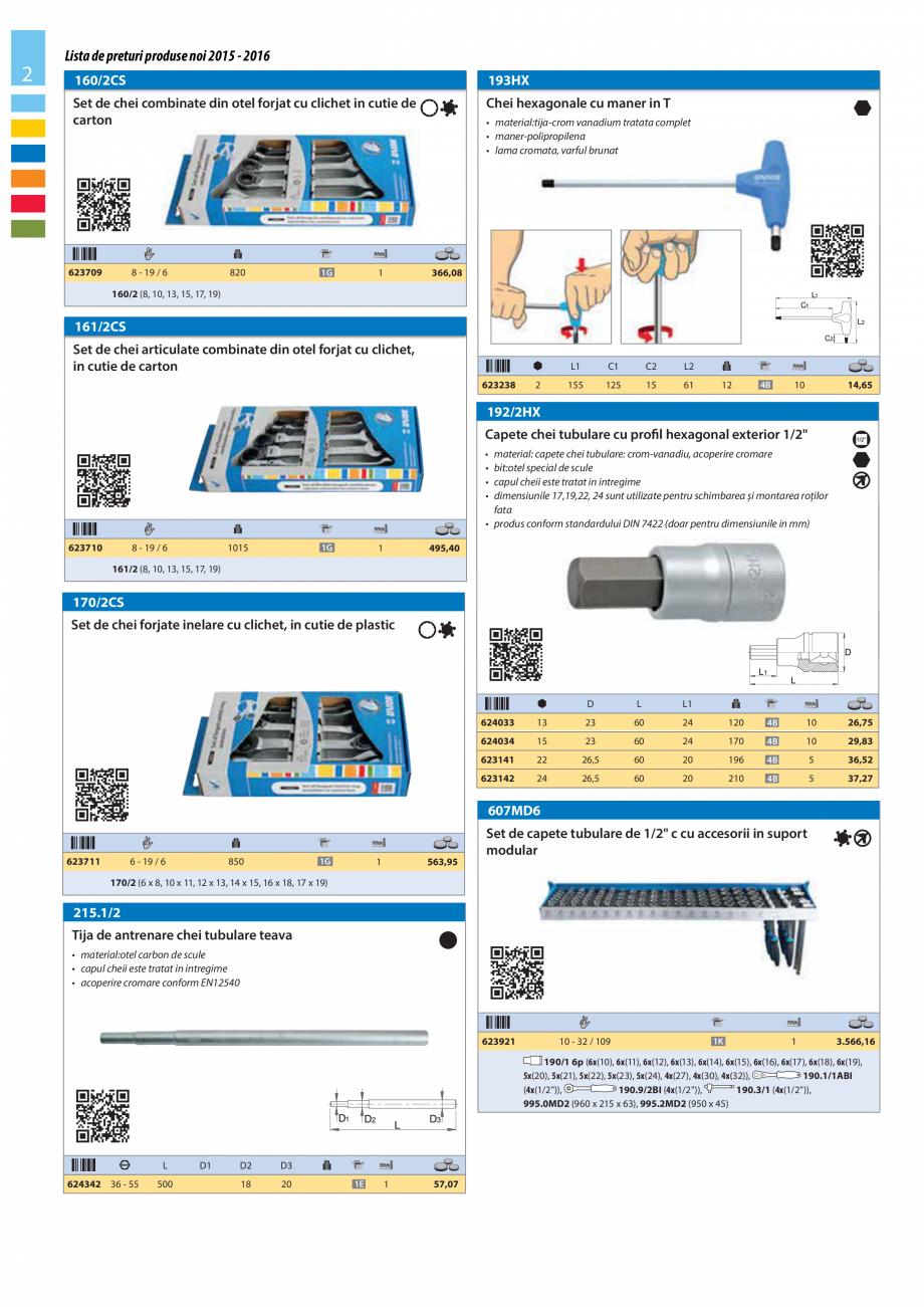 Pagina 2 - Lista de preturi produse noi 2015 - 2016 UNIOR 1510, 1517 S Catalog, brosura Romana 15 ...