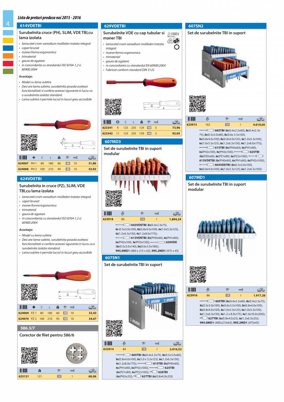 Pagina 4 - Lista de preturi produse noi 2015 - 2016 UNIOR 1510, 1517 S Catalog, brosura Romana atare...